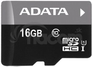 ADATA 16GB MicroSDHC Premier, class 10, with Adapter