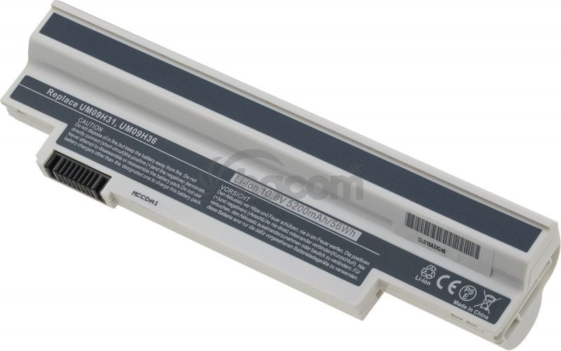 Batéria T6 power Acer Aspire One 532h, 533, 6cell, 5200mAh, black