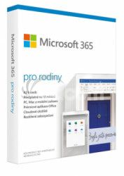 Microsoft 365 Family P6 Mac / Win, 1 Rok, CZ