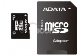 ADATA 8GB MicroSDHC Card with Adaptor Class 4