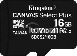 16GB microSDHC Kingston Canvas Select Plus A1 CL10 100MB / s bez adaptéru