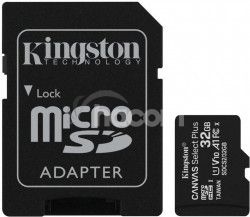 32GB microSDHC Kingston Canvas Select Plus A1 CL10 100MB / s + adaptér