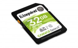 32GB SDHC Kingston Canvas Select CL10 UHS-I 80R