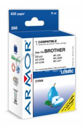 Armor ink-jet pre Brother DCP J125,6ml (LC985C) C