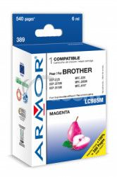 Armor ink-jet pre Brother DCP J125,6ml (LC985M) M