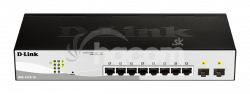 D-Link DGS-1210-10 L2 / L3 Smart + Switch, 8x GbE, 2 SFP, fanless