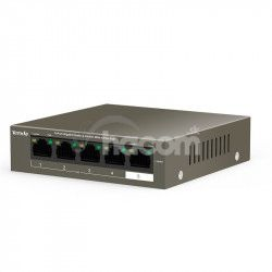 Tenda TEG1105P-4-63W PoE AT switch 4x PoE 802.3af/at, 5x 1 Gb/s, PoE celkem 63W, fanless