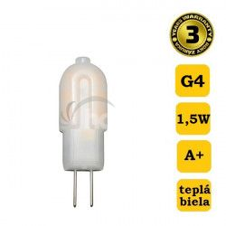 Solight LED žiarovka G4, 1,5W, 3000K, 120lm