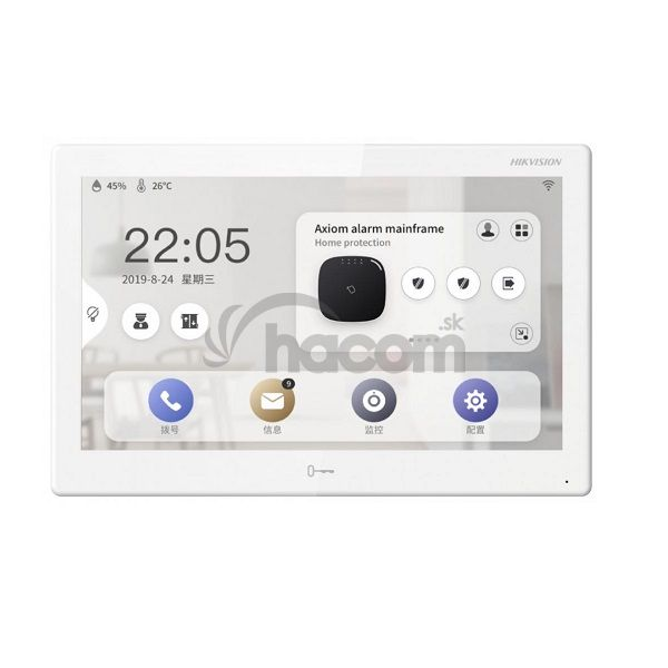 "Hikvision vnút. jednotka 7"" s WiFi, modul.systém, android DS-KH9310-WTE1"