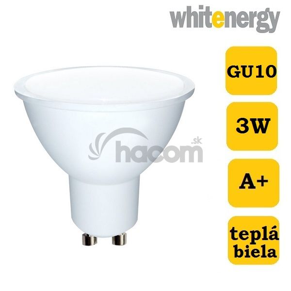 WE LED žiarovka MR16 3W, GU10, 3000K, 100°, 217lm